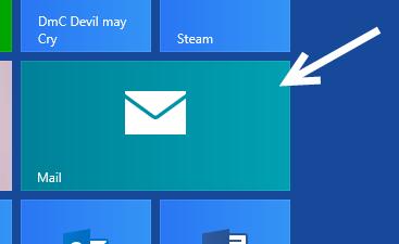 windows 8 start screen mail tile