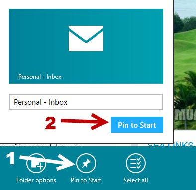 windows 8 mail box pin to start