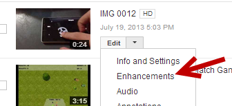 add enhancements to YouTube videos