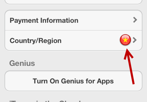 change Apple ID country region