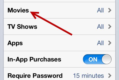 hide movies in iOS