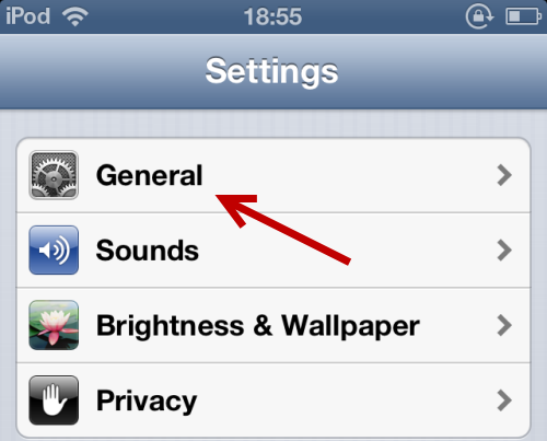 iOS General Settings