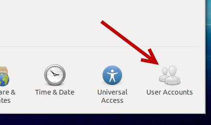 ubuntu user account settings