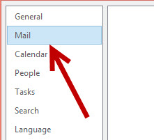 outlook mail options