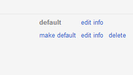 Set default Gmail address