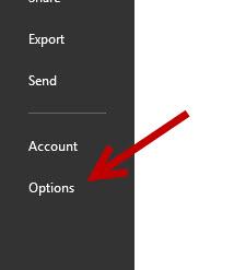 onenote options