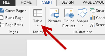 insert table into word document