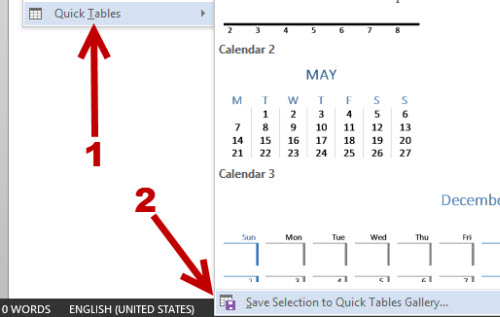 save table as template in word 2013