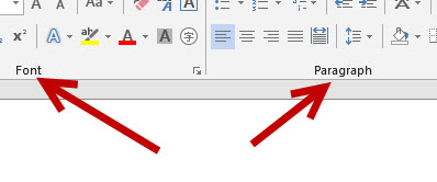 Office 2013 commands group example