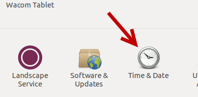 ubuntu time and date settings