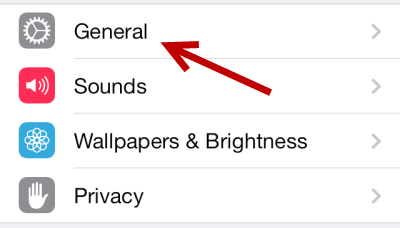 iOS 7 General Settings