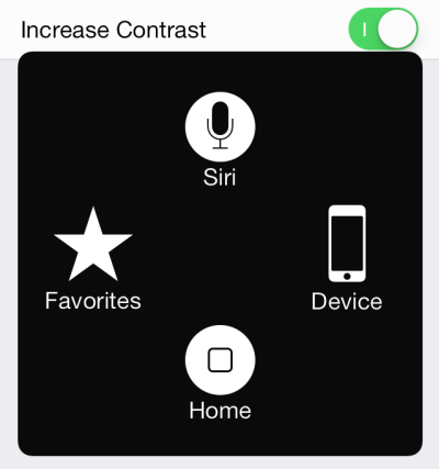 iOS 7 Assistive Touch without translucent background