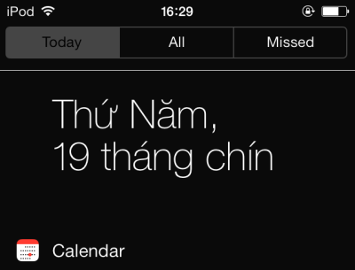 iOS 7 notification center without translucent background