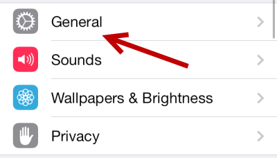 iOS 7 General Settings