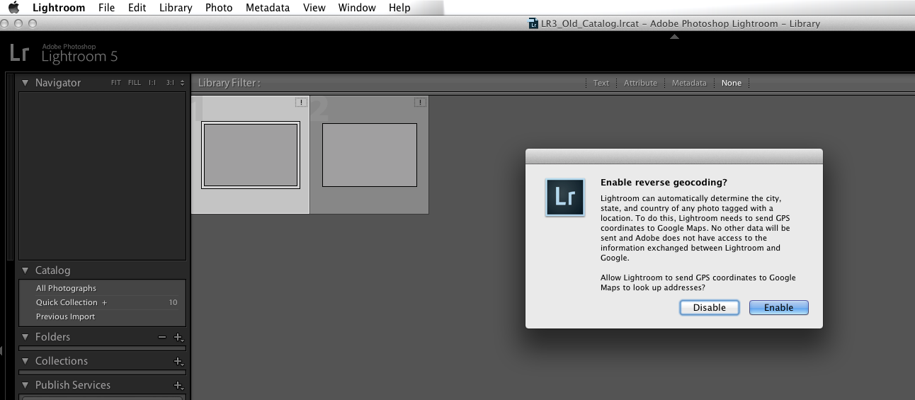 Lightroom 5: How to Merge a Catalog from an Older Version