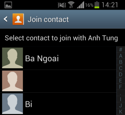 samsung android join contacts
