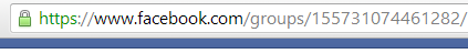 Facebook Group long url