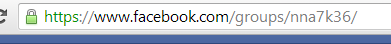 Facebook group custom url