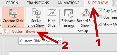 powerpoint custom slide show