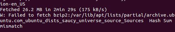 Ubuntu hash sum mismatch error