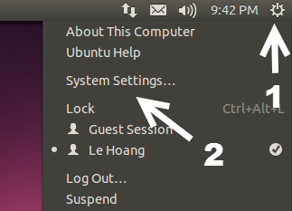 Access Ubuntu System Settings