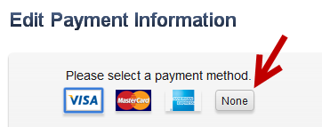 remove credit card from iTunes account