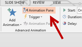powerpoint 2013 animations pane