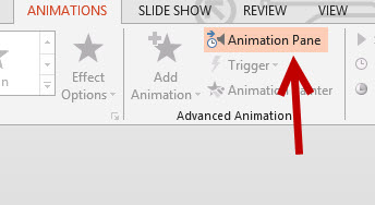 PowerPoint 2013 Animation Pane