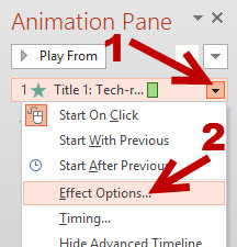 PowerPoint 2013 Animation Effects