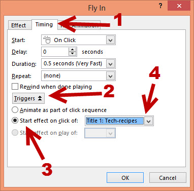 PowerPoint 2013 Trigger animation on click