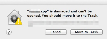 .App is damaged cannot be opened