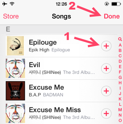 add songs to playlist on iPhone 5S iOS 7