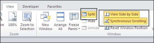 view options enabled