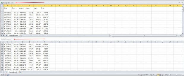 view two excel files in one window