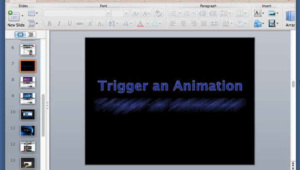 trigger animation features