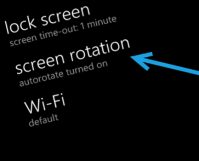 screen rotate windows 8