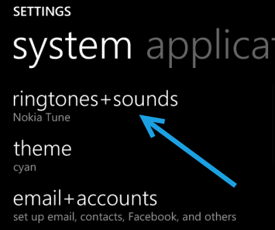 windows phone 8 change ringtones and sound
