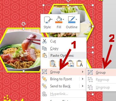group objects together in PowerPoint