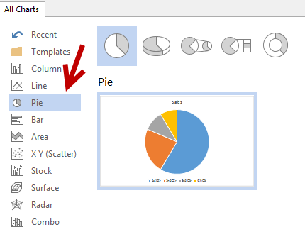 insert a pie chart in powerpoint word excel