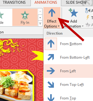 change direction of animation in powerpoint