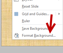 change PowerPoint background