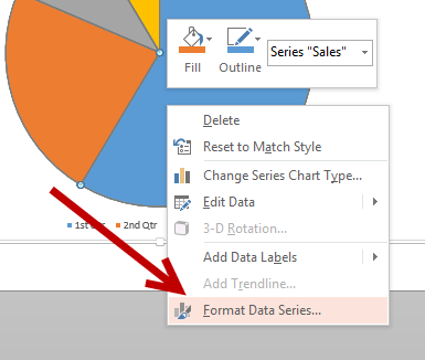 format data series in chart in PowerPoint