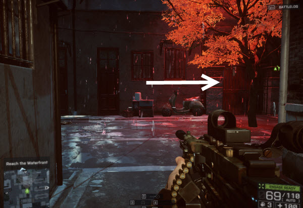 Dog Tag: Business Casual location in mission 2 BattleField 4