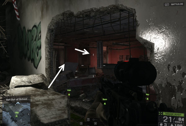 Dog Tag One Way location in mission 1 BattleField 4