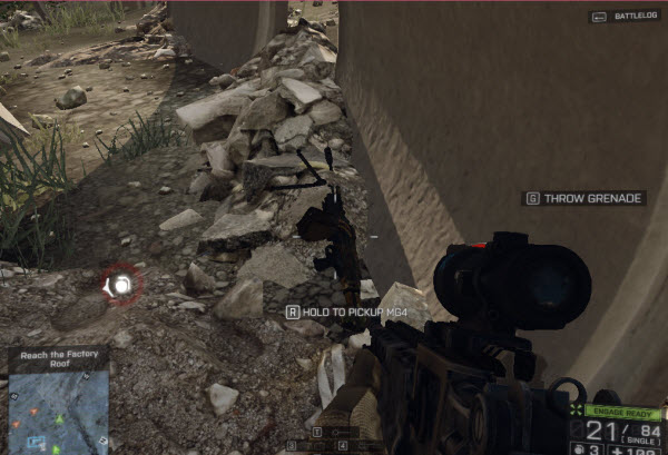 Weapon MG4 location in mission 1 BattleField 4