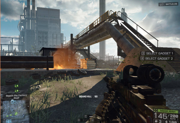 Weapon CBJ - MS location in mission 1 BattleField 4