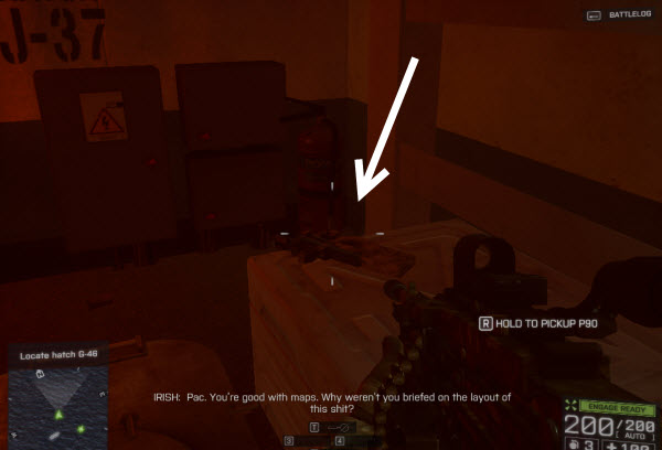 Weapon P90 location in mission 3 BattleField 4