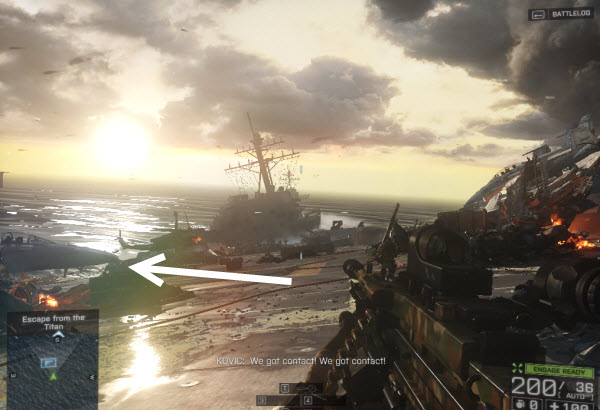 Weapon: U100-MK5 location in mission 3 BattleField 4