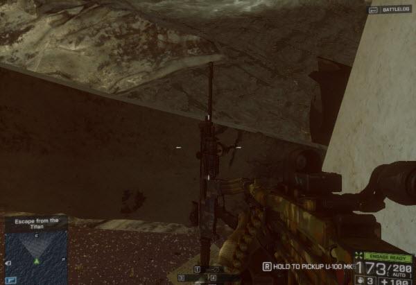 Weapon: U100-MK5 location in mission 3 BattleField 4