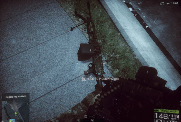 Weapon M240B location in mission 4 BattleField 4